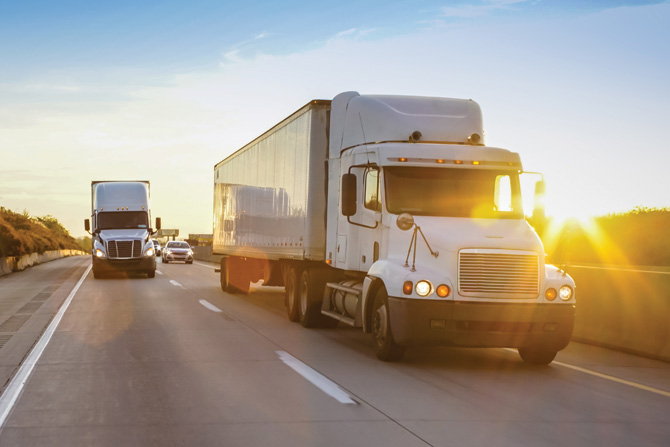 Trucks-Sunset